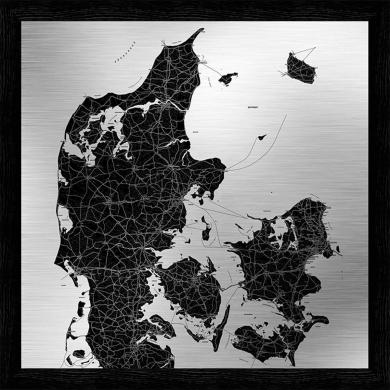 Incado metal Danmarkskort   Bolighuset Werenberg