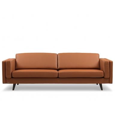 Brunstad Weston sofa – Polster Variant – 3 personers, Brunstad læder farver – Cognac