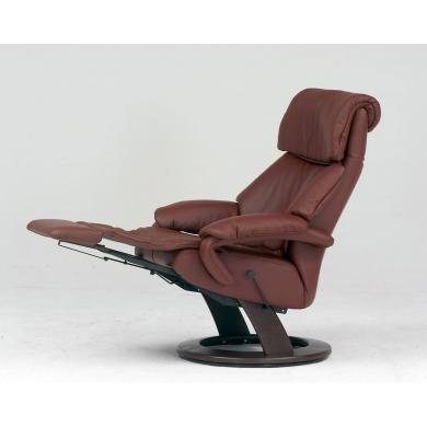 Himolla 7042 Tyson lænestol med indbygget skammel