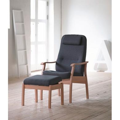 Farstrup Applaus hvilestol | Stof & læder