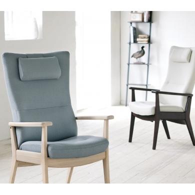 Farstrup Plus hvilestol | Stof & læder