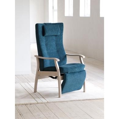 Farstrup Duet hvilestol |indb. fodhviler | Stof & læder