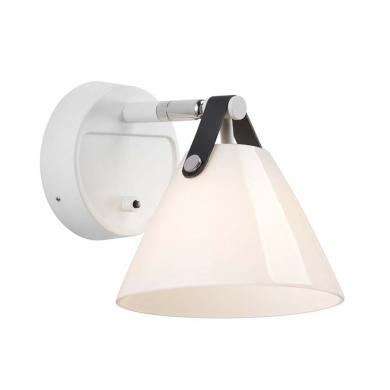 Nordlux Strap 27 - Væglampe i glas | Bolighuset Werenberg