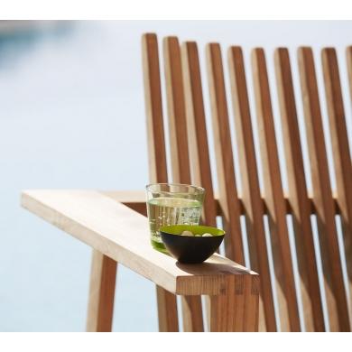 Cane-line Amaze Lounge stol Teak | Bolighuset Werenberg