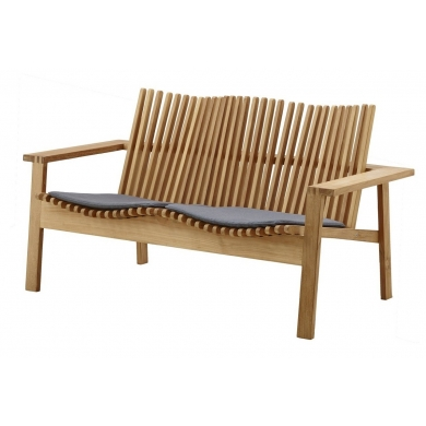 Cane-line Amaze 2 pers. sofa Teak | Bolighuset Werenberg