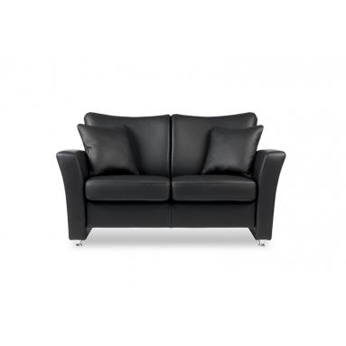 Brunstad System Pluss sofa i læder – Polster Variant – 3 personers, Brunstad læder og stel farver – Classic læder i sort Nero og olieret eg