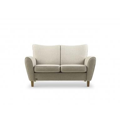 Brunstad System Pluss sofa i stof – Polster Variant – 3 personers, Brunstad stof dessin – Dessin: Cabana, Grå, Brunstad stel – Olieret eg