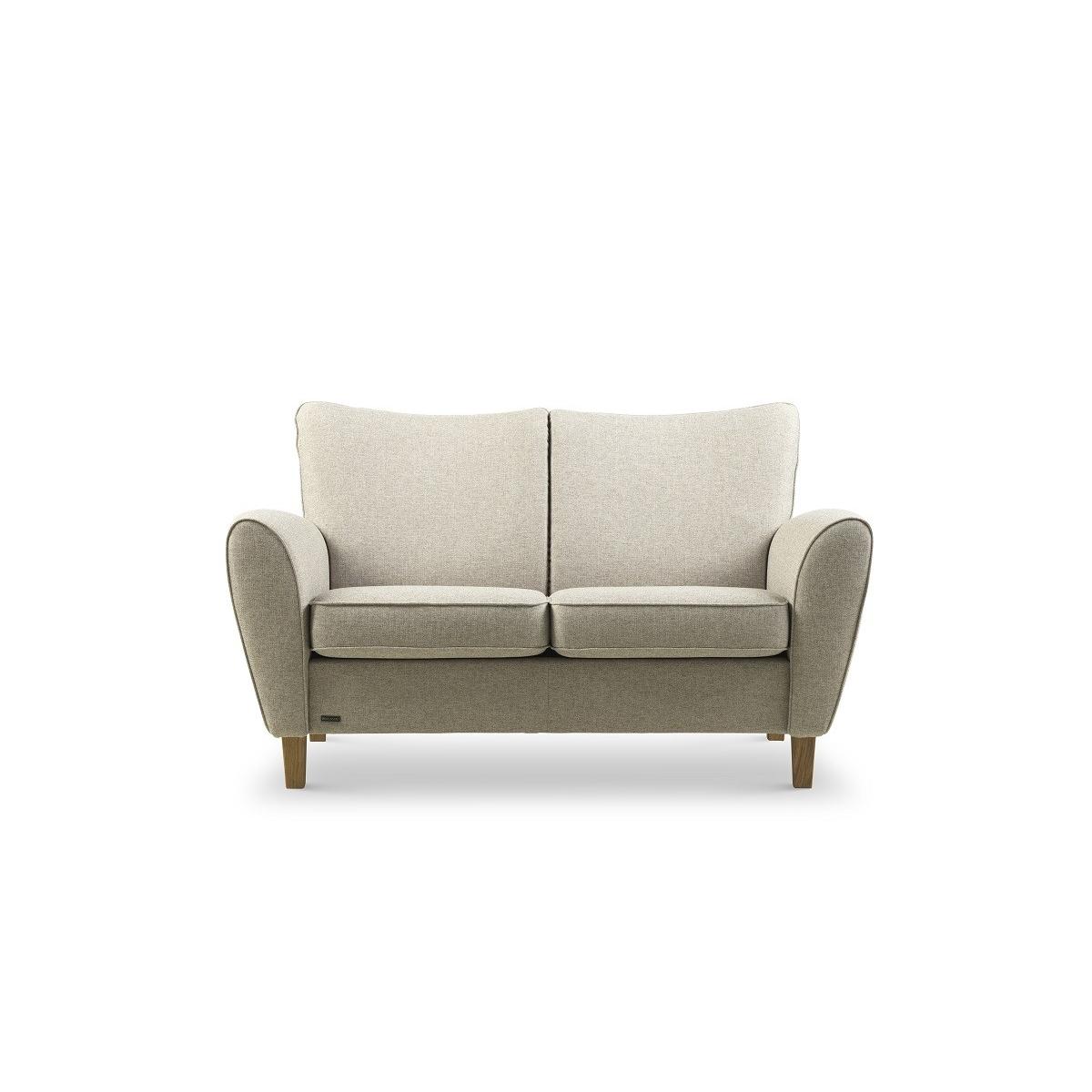 Brunstad System Pluss sofa i stof 2 personers Olieret eg Dessin: Cabana, Grå