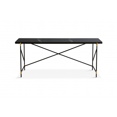 Handvärk skrivebord - sort marmor og messing | Bolighuset Werenberg
