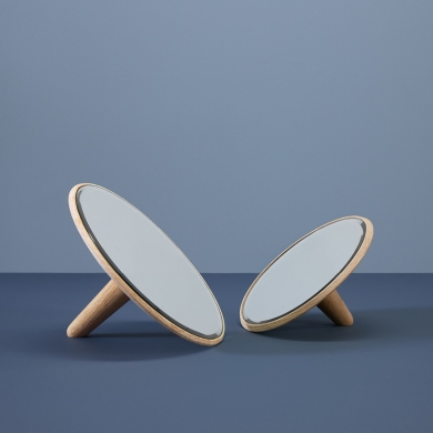 WOUD | Barb spejl - Stort, 26 cm | Bolighuset Werenberg