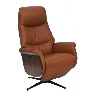 Lexpo   William lænestol i læder med 2 motorer - Bolighuset Werenberg