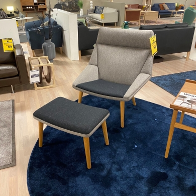 Getama | Tux - Lænestol m. skammel - Bolighuset Werenberg