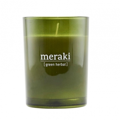 Meraki  Duftlys Green herbal - Bolighuset Werenberg