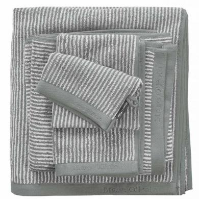 Marc O'Polo - Håndklæder stripe/green