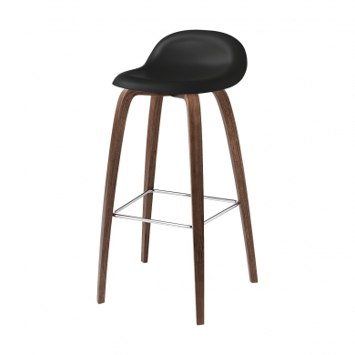 GUBI | 3D Barstol - Wood Base | Bolighuset Werenberg