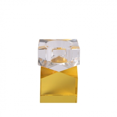 C'est Bon | Krystalstage, gul/klar - 8,5x6 cm