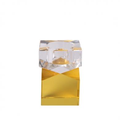 C'est Bon | Krystalstage, gul/klar - 8,5x6 cm - Bolighuset Werenberg