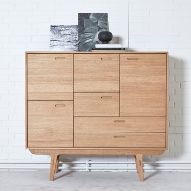 PBJ | Fifty Highboard - Bred | Bolighuset Werenberg