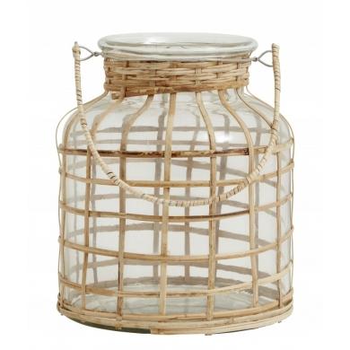 Nordal   Bamboo Candle Holder - Bolighuset Werenberg