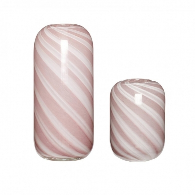 Hübsch   Vasesæt - Hvid/lyserød   Bolighuset Werenberg