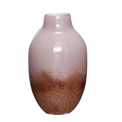 Hübsch | Vase - glas lilla/brun - Bolighuset Werenberg