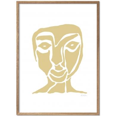Poster & Frame   Yellow Face - Bolighuset Werenberg