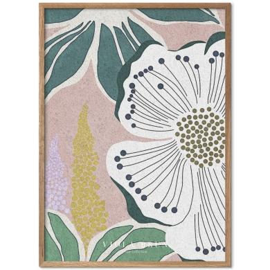 Poster & Frame   Bloom Dusty Rose - Bolighuset Werenberg