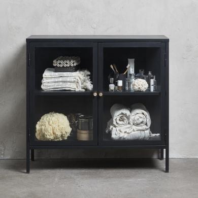 Unique Furniture | Carmel vitrineskab - 2 sektioner - Bolighuset Werenberg