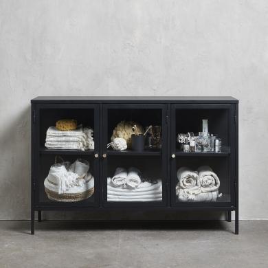 Unique Furniture | Carmel vitrineskab - 3 sektioner | Bolighuset Werenberg