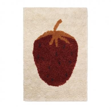 Ferm Living | Fruiticana Tufted Strawberry Rug - Bolighuset Werenberg