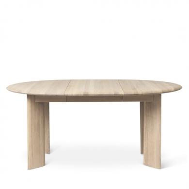 Ferm Living | Bevel Table Extendable - White Oiled Oak | Bolighuset Werenberg