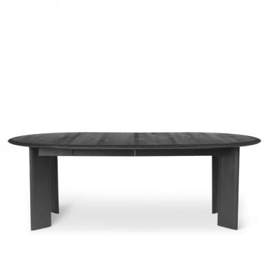 Ferm Living   Bevel Table Extendable - Black Oiled Oak   Bolighuset Werenberg