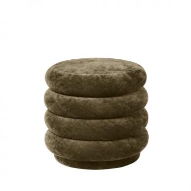 Ferm Living   Pouf Round - Faded Velvet   Bolighuset Werenberg