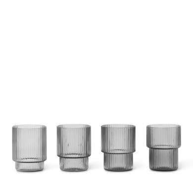Ferm Living | Ripple Glasses - Set of 4 | Bolighuset Werenberg