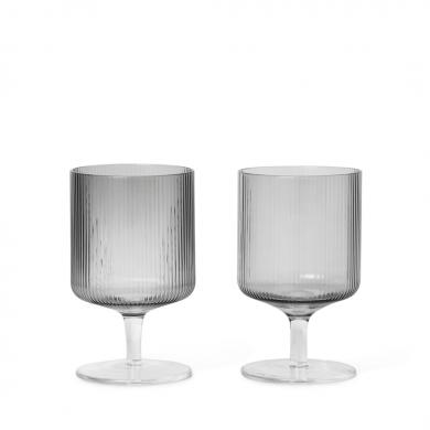 Ferm Living | Ripple Wine Glasses - Set of 2 | Bolighuset Werenberg