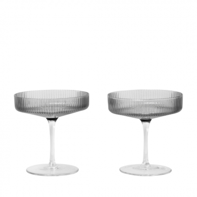 Ferm Living | Ripple Champagne Saucers - Set of 2 | Bolighuset Werenberg