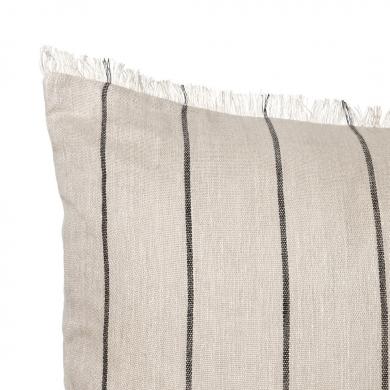 Ferm Living | Calm Cushion - Camel/Black 80x80 | Bolighuset Werenberg