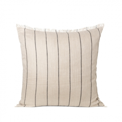 Ferm Living | Calm Cushion - Camel/Black 80x80 | Bolighuset Werenberg