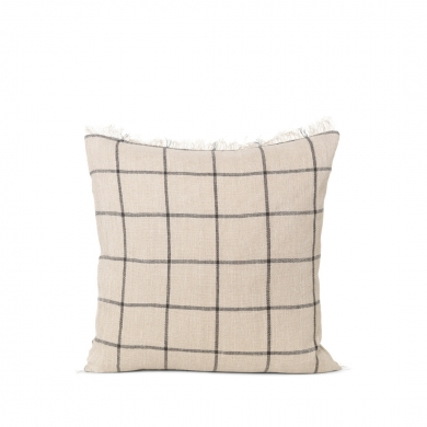 Ferm Living | Calm Cushion - Camel/Black 50x50 | Bolighuset Werenberg