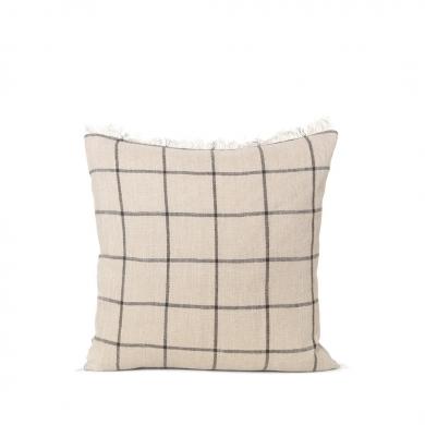 Ferm Living | Calm Cushion - Camel/Black 50x50 | Bolighuset Werenberg