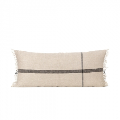 Ferm Living | Calm Cushion - Camel/Black 40x90 | Bolighuset Werenberg