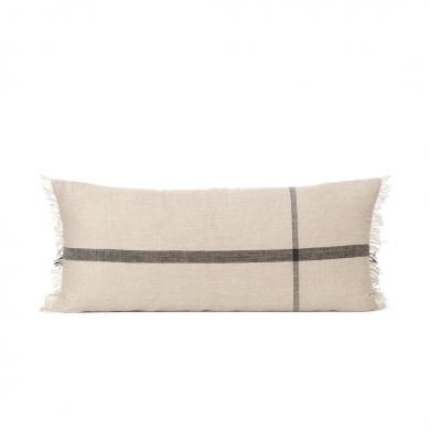 Ferm Living | Calm Cushion - Camel/Black 40x90 | Bolighuset Werenberg