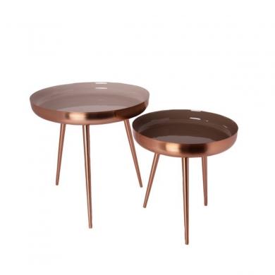 AU Maison | Nesting Tables, Sæt - Creme/Rosegold - Bolighuset Werenberg
