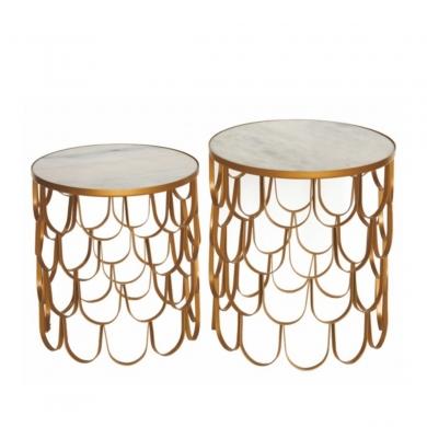 AU Maison | Tables Art sæt - Hvid marmor | Bolighuset Werenberg