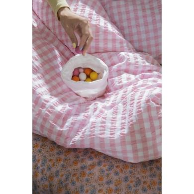 JUNA | Bæk&Bølge Sengetøj - Pink/hvid
