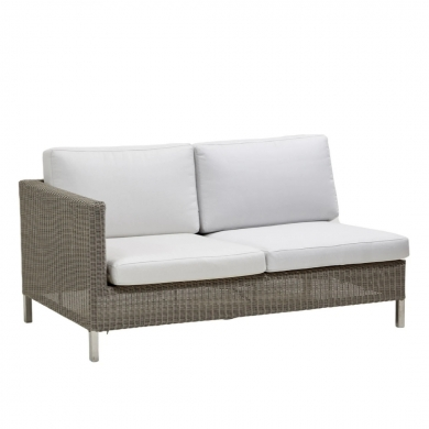 Cane-line   Connect 2 pers. sofamodul - Taupe   Bolighuset Werenberg