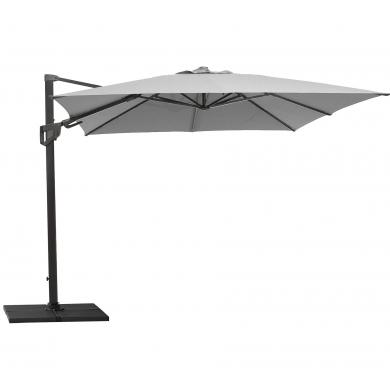 Cane-line   Hyde Luxe Tilt 3x3 parasol inkl. fod - Light Grey   Bolighuset Werenberg