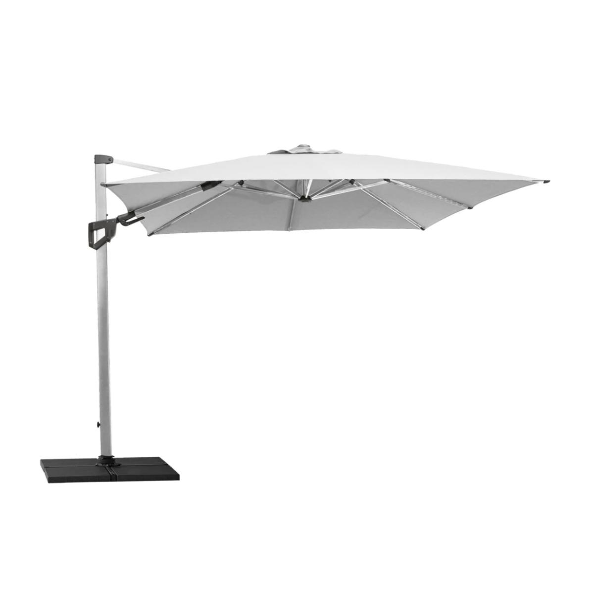 Cane-line | Hyde Luxe Tilt parasol, 3x3 m - Silver