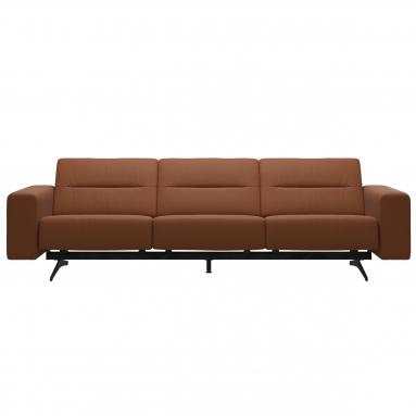 Stressless®   Stella 3-pers. sofa - Stressless®   Læder / Stof - Calido uld - Light Grey, Stressless®   Variant - Med nakkestøtte, 1 stk.,