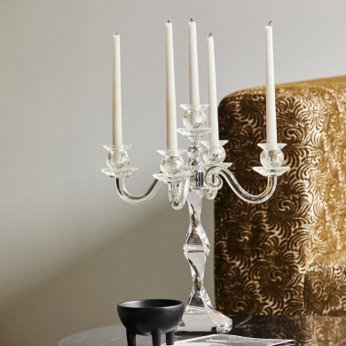 Nordal | Fara Candle Holder 5 - Clear - Bolighuset Werenberg